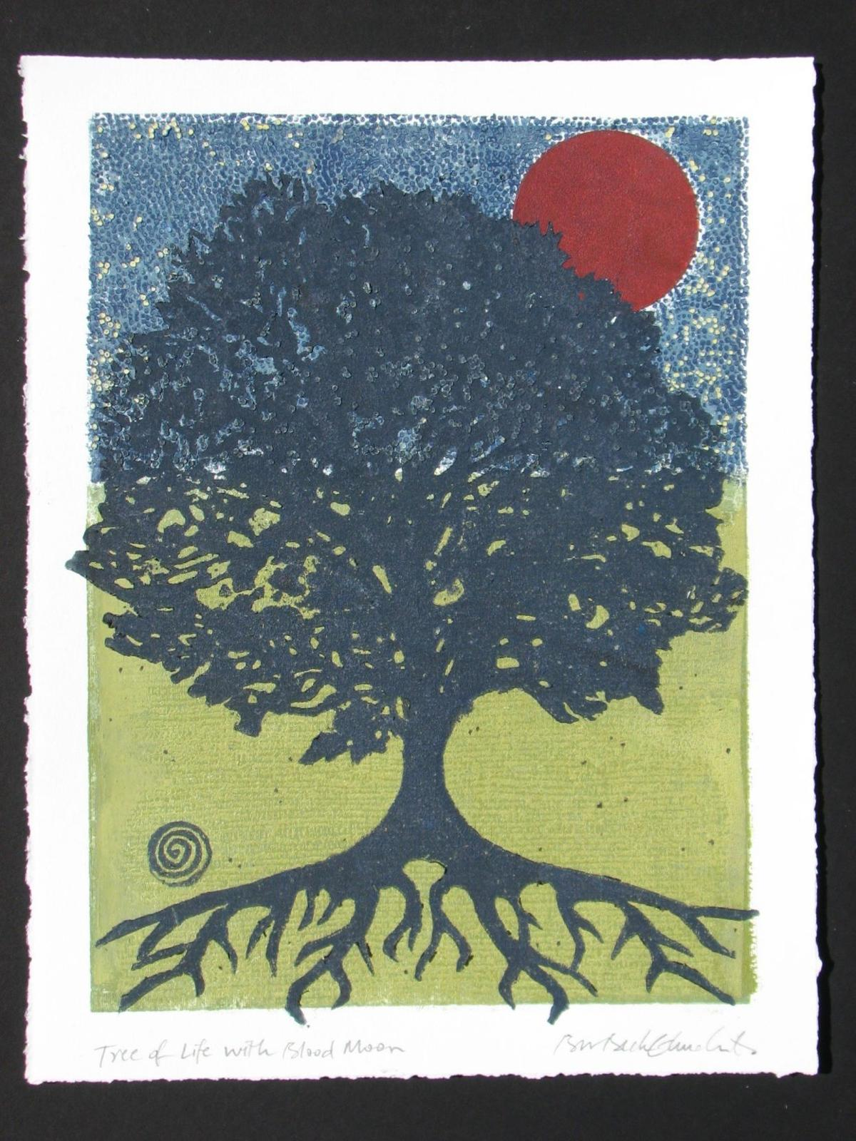 Tree of Life with Blood Moon