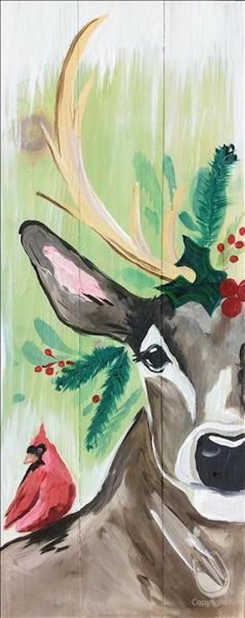 Rustic Christmas Deer