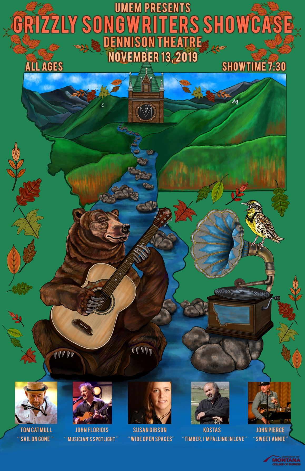 Grizzly Songwriters Poster