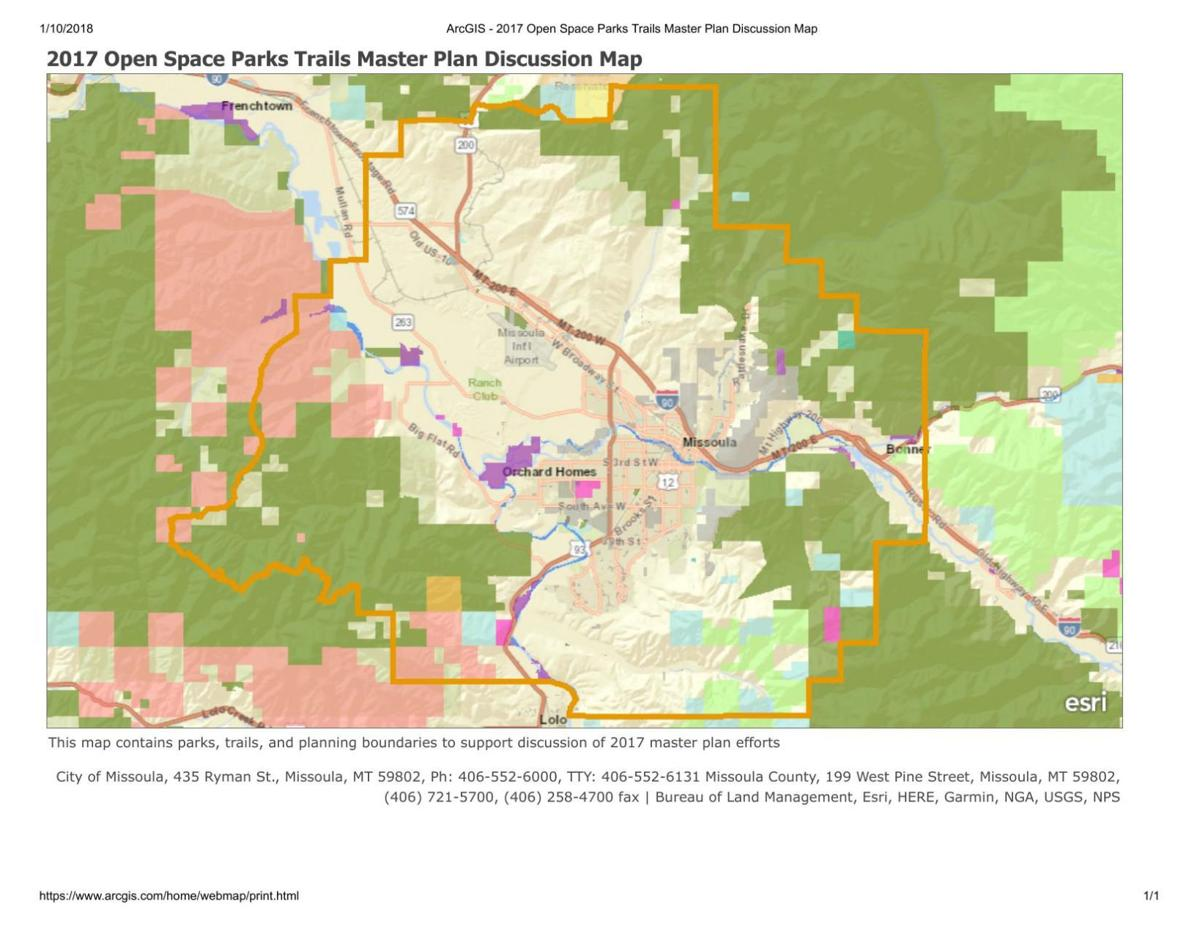 Open Space Parks Trails Master Plan Discussion Map