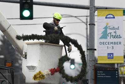 Christmas decorations go up across Missoula