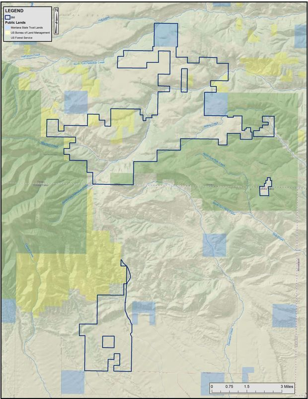 This map outlines lands owned by Dan and Farris Wilks