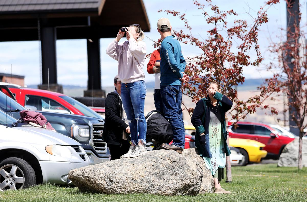 Small plane lands safely after several tense hours circling Butte