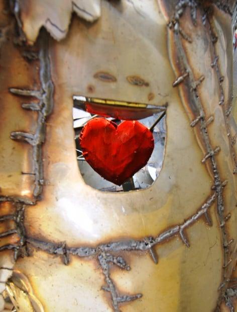 Chief Hatchet Sculpture Welded Art Metal Art