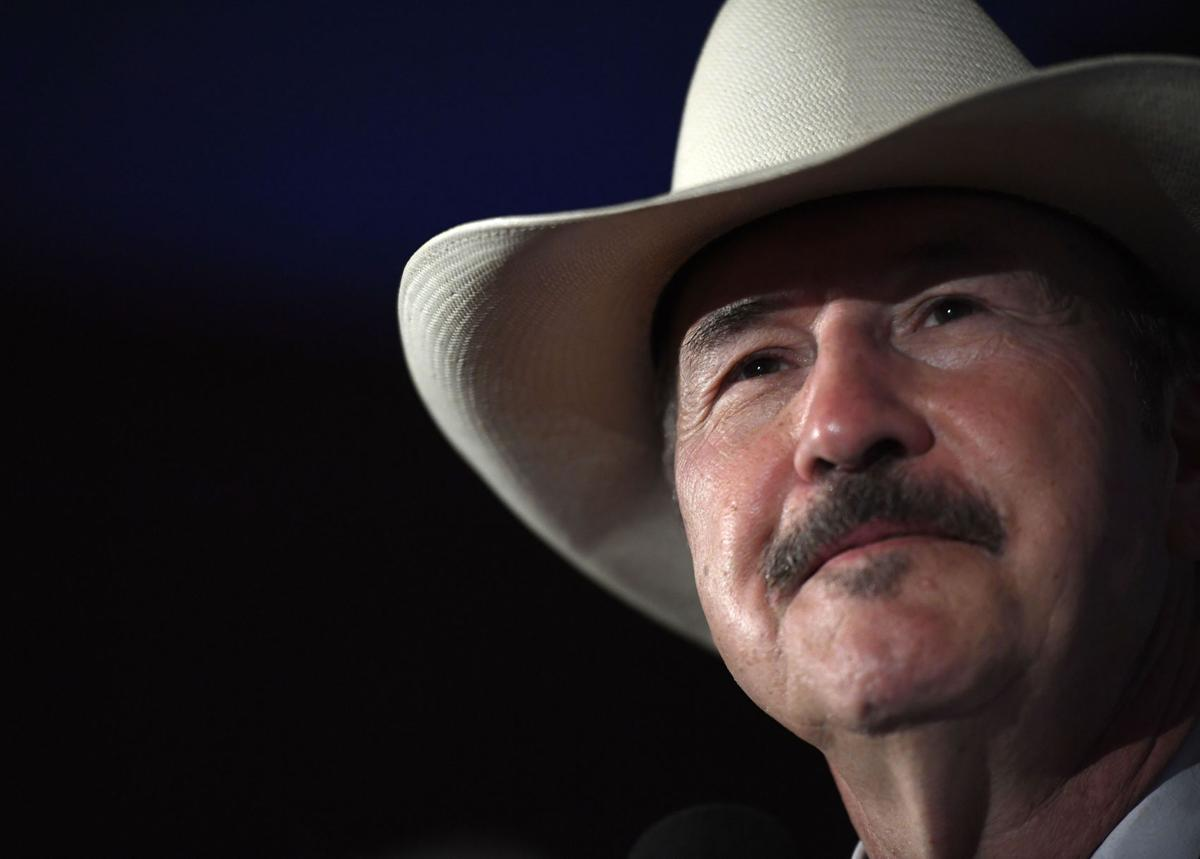 Democratic candidate Rob Quist looks out into the crowd