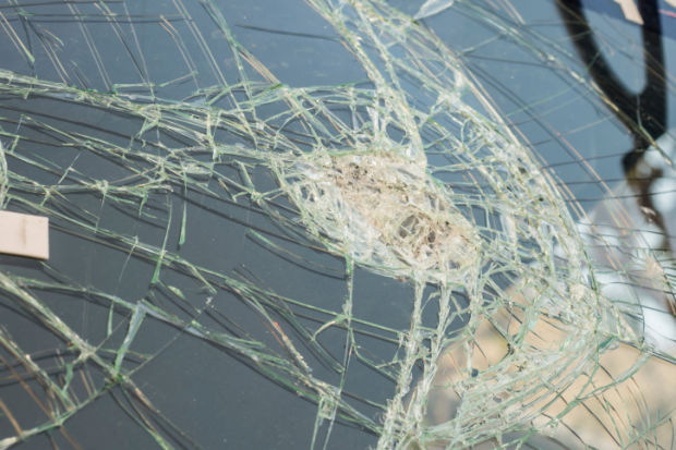 broken glass car windshield stockimage crash accident