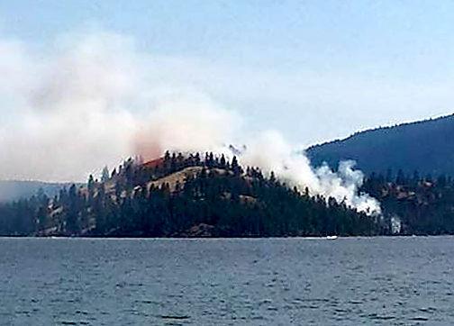 Wild Horse Island fire