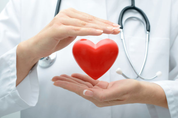 Medical Aid Doctor Heart Stockimage
