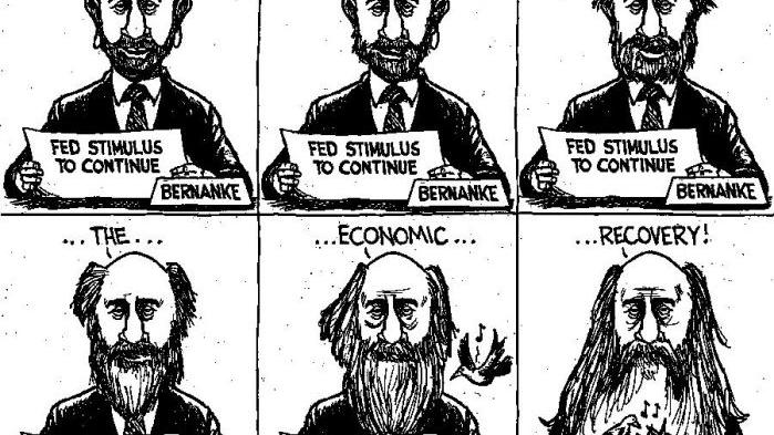 CARTOON: Bernanke still waiting for federal stimulus to