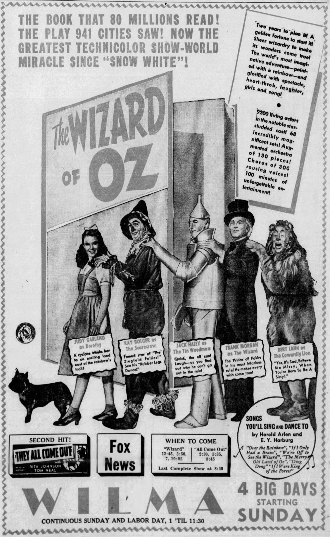 Wizard of Oz at Wilma ad