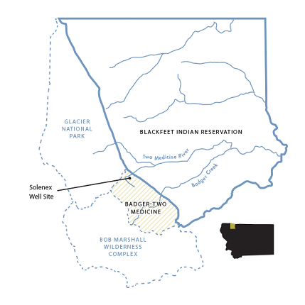 Badger-Two Medicine drill site map