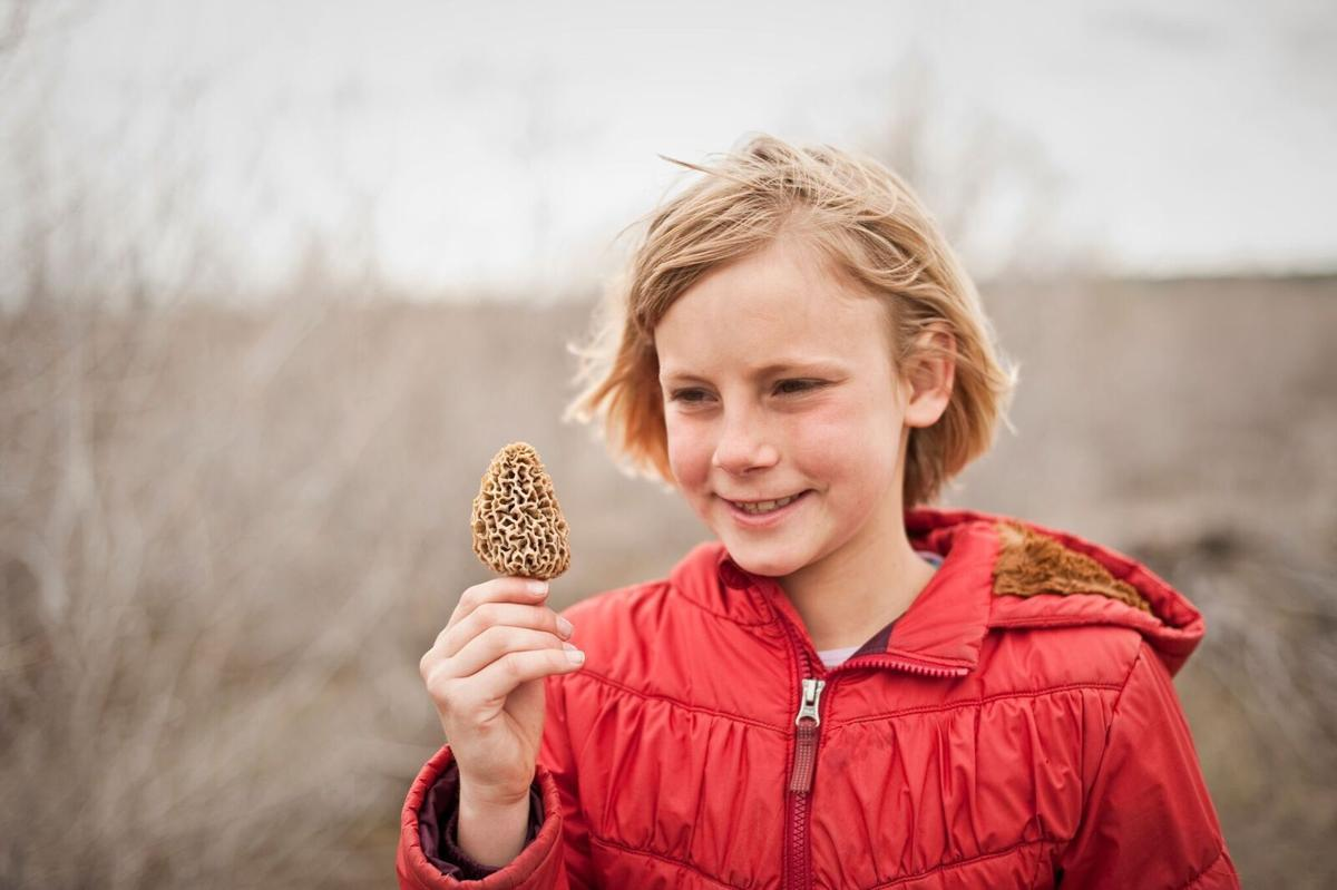 Girl with morel