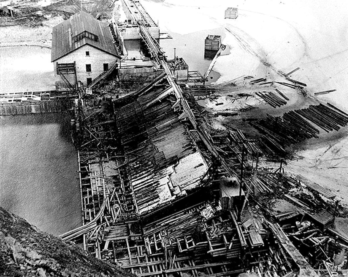 Milltown Dam construction