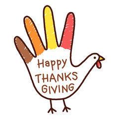 Hand turkey for Thanksgiving
