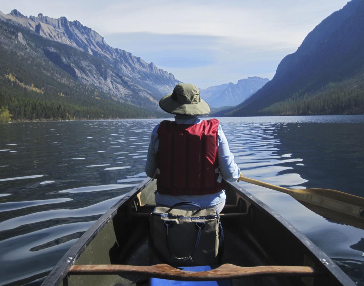 Canoeing in Glacier