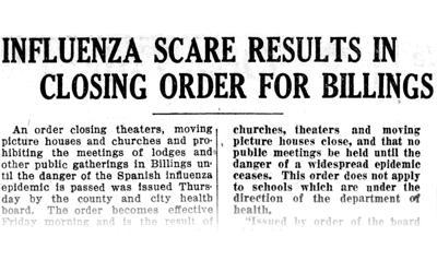 A century ago, Spanish flu ravaged Billings in community's deadliest epidemic