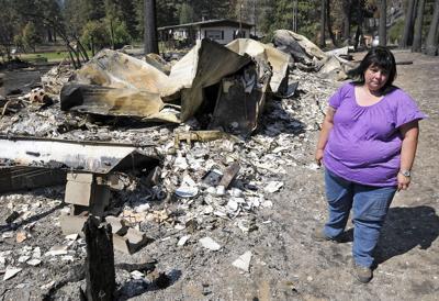 Fire residents return