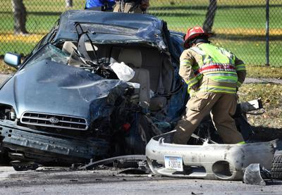 Head-on crash closed southbound Reserve Street Thursday afternoon