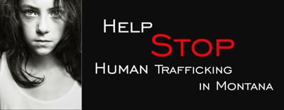 Help stop human trafficking in Montana poster