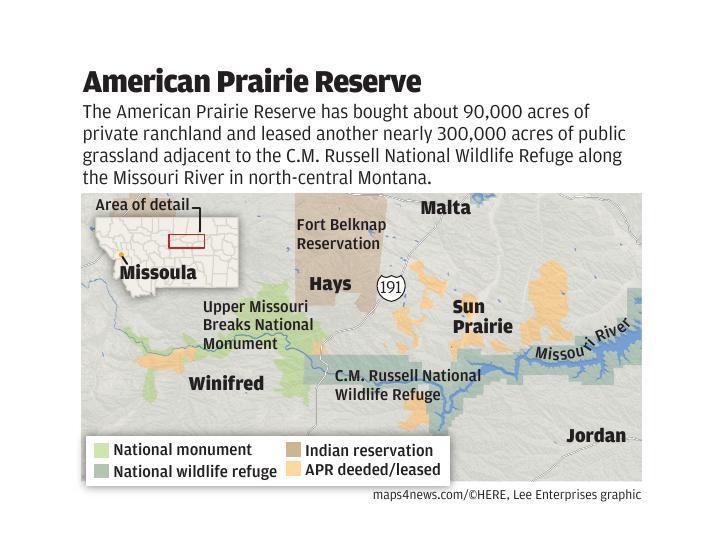 American Prairie Reserve landscape