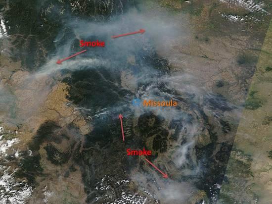 Wildfire smoke