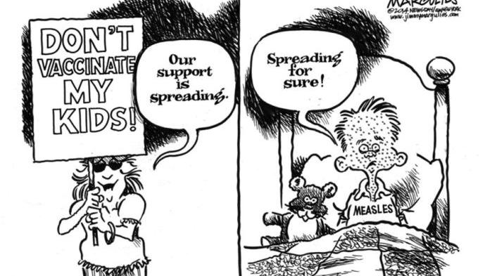 CARTOON: Support for anti-vaccine message is spreading