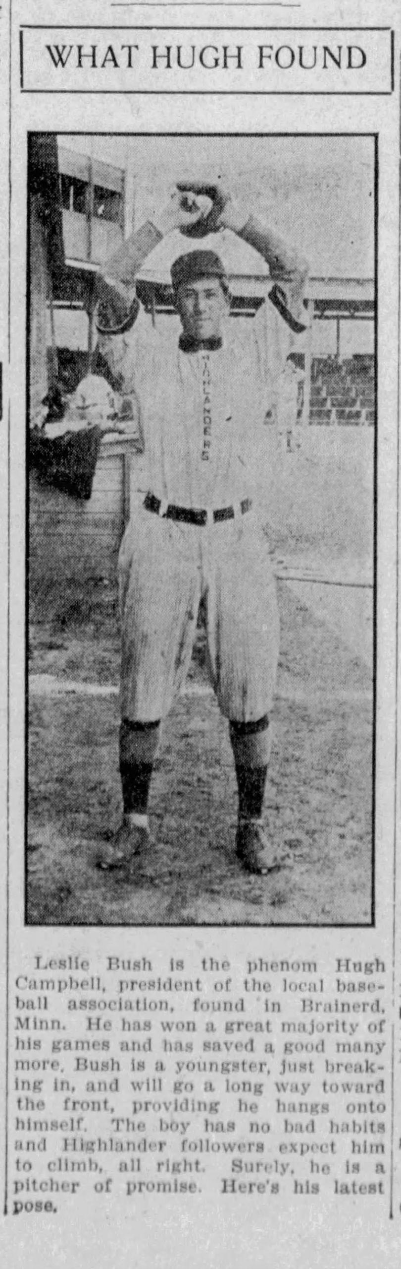 Bullet Joe Bush 1912