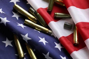 Flag bullets gun violence mass shooting