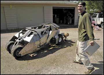 Batmobile go-kart: 'Dark' aspirations - Man hopes homemade