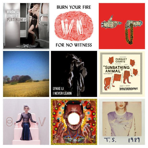 Top albums of 2014 lead