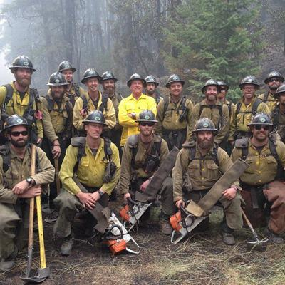 Schwarzenegger at Superior fire