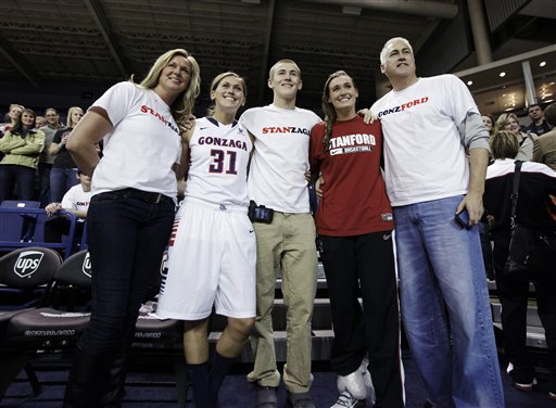 120312 Tinkle family at Stanford-Gonzaga