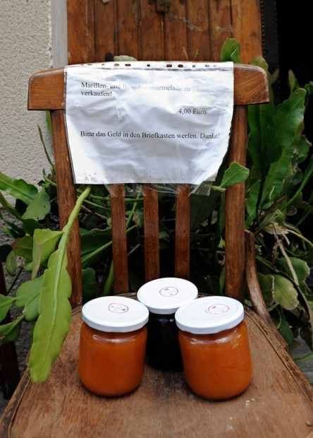 Apricot and blackberry jam