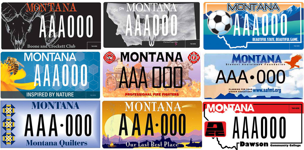 20 Montana license plate designs you probably don't see that