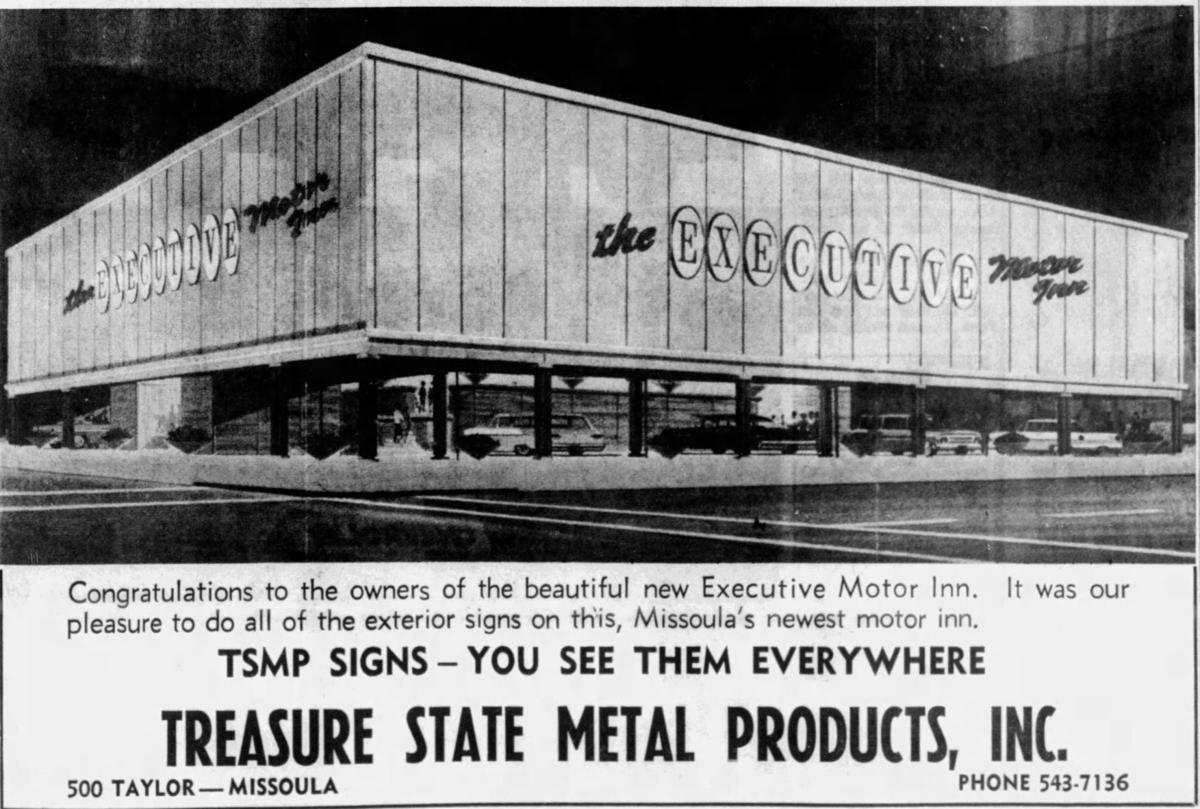 Executive Motor Inn small ad May 17, 1964