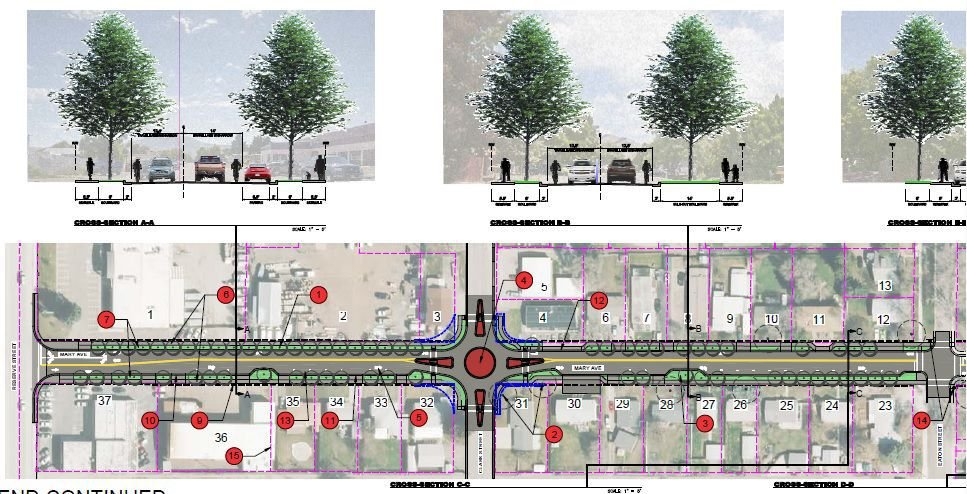 Conceptual plan for Mary Ave