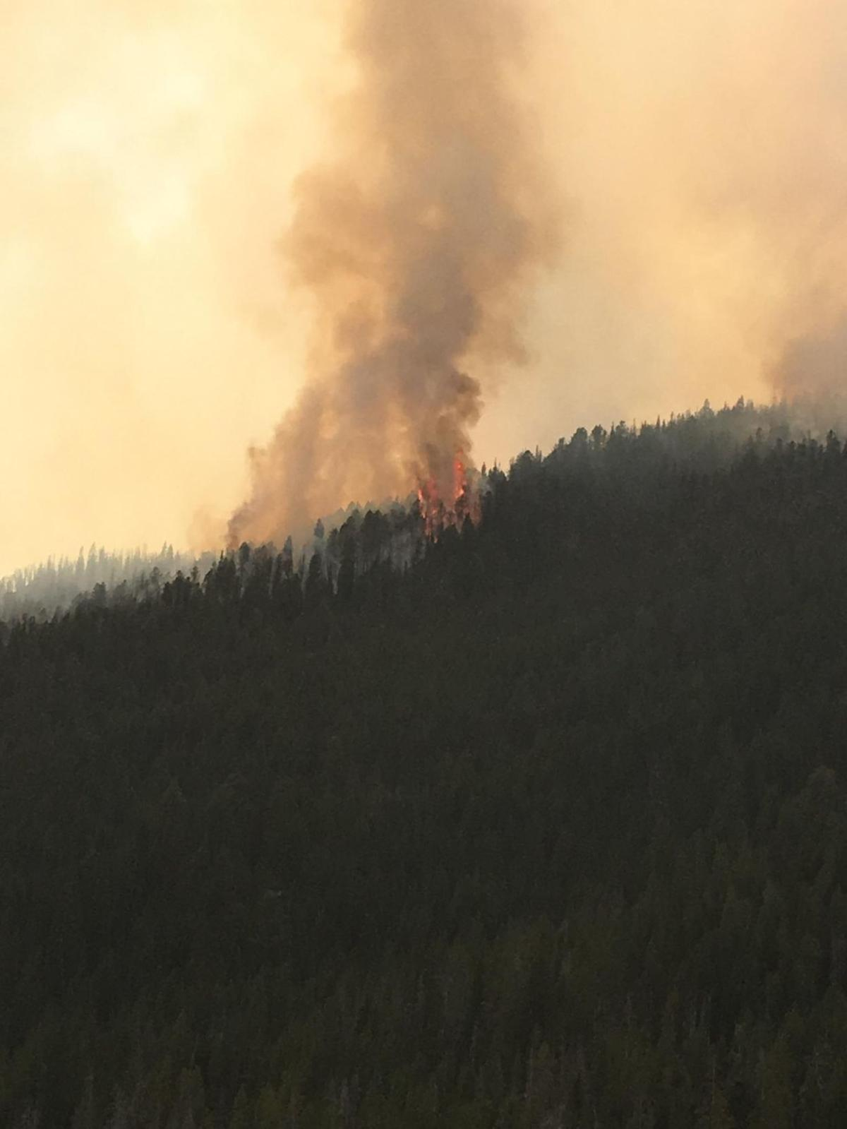 Photos and video: Trails close as fire in Yellowstone National Park