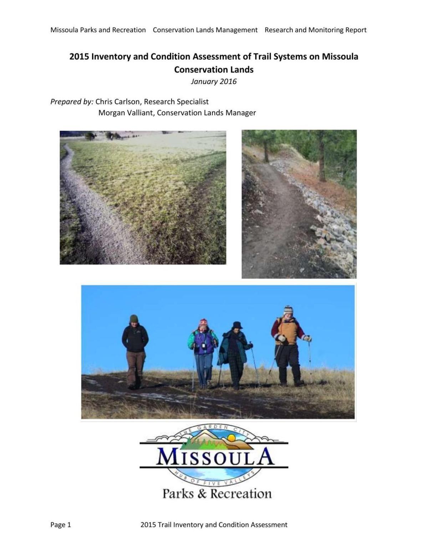Missoula City trails report 2015