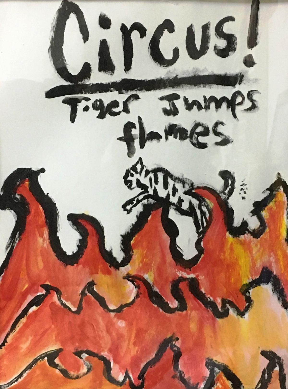 Circus! Tiger Jumps Flames