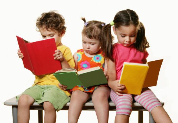 Kids reading icon school library books