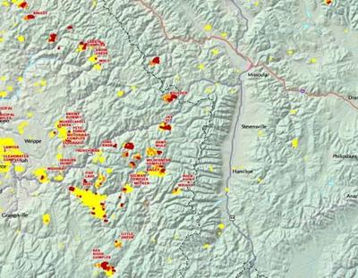 Fire activity map