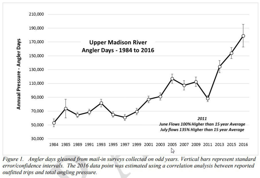 Rise in fishing pressure