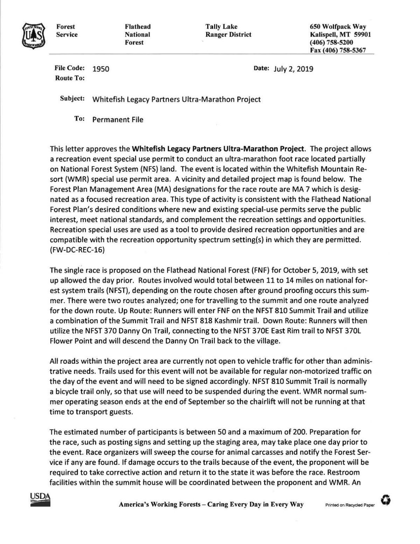 Ultramarathon decision document