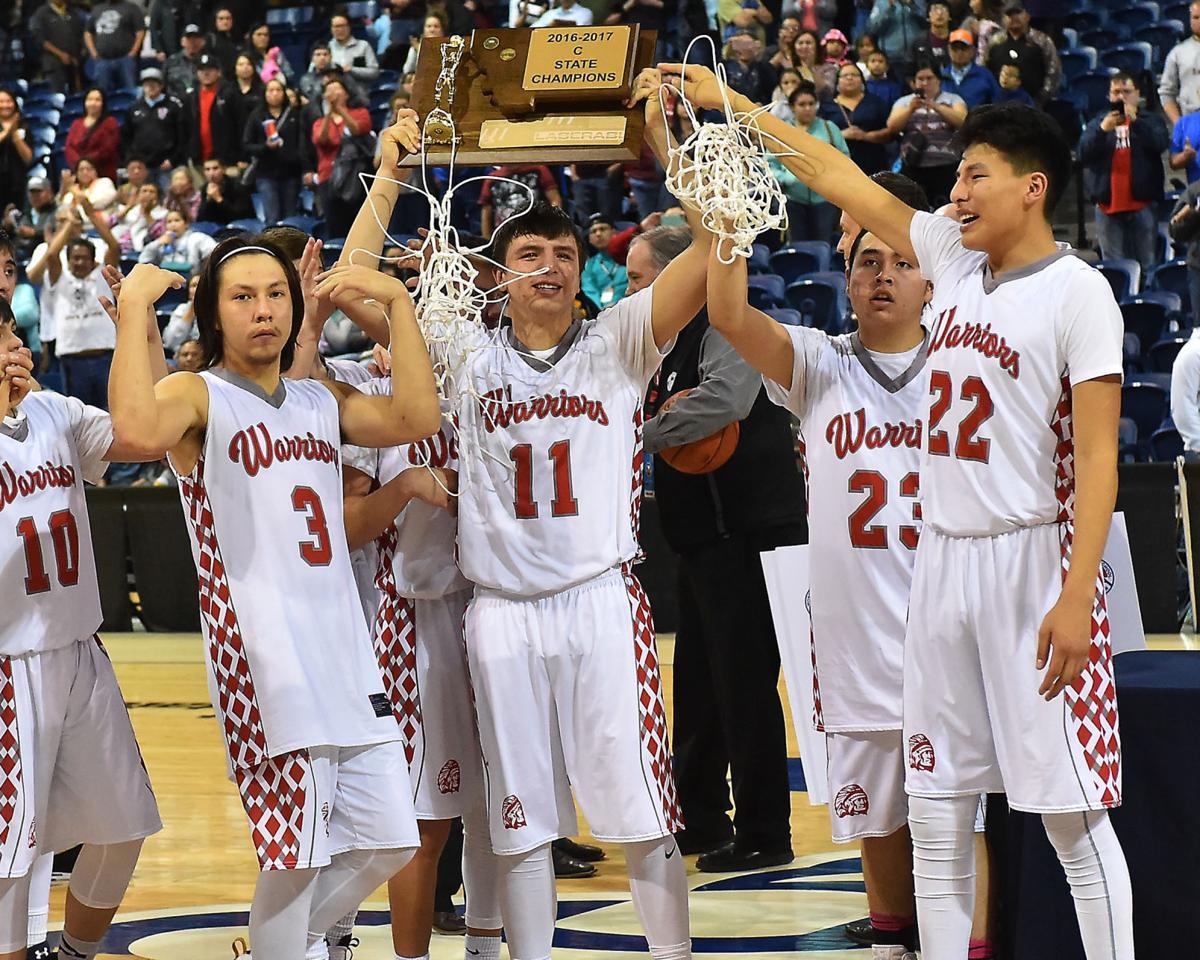 Arlee Warriors win their first Class C boys basketball championship