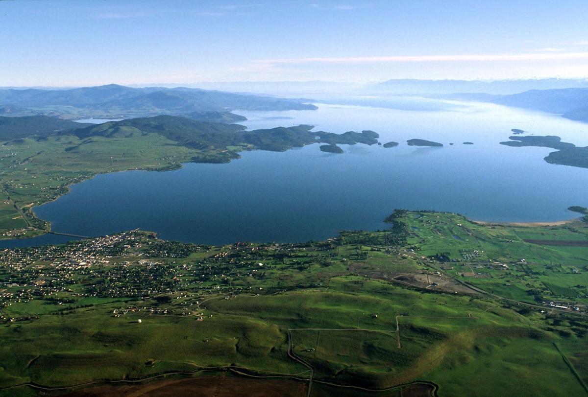 Flathead Lake aerial