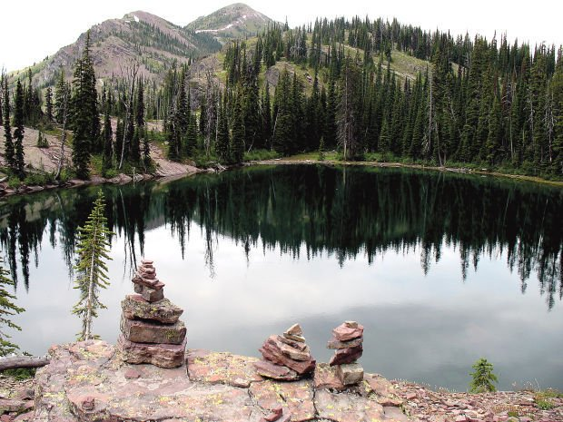 An unnamed lake in the Bob Marshall Wilderness