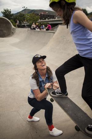 Girls on Shred tears into Mobash Skate Park