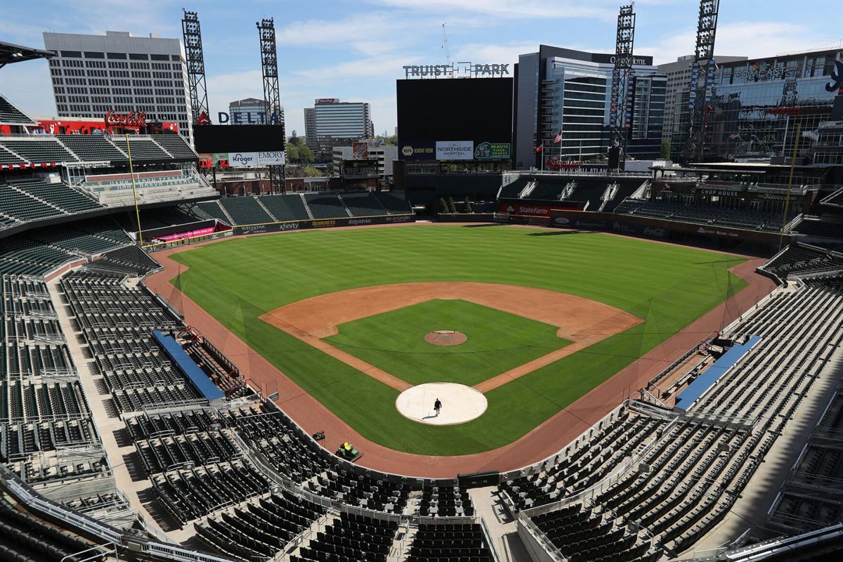 Truist Park on April 1, 2020, in Atlanta.