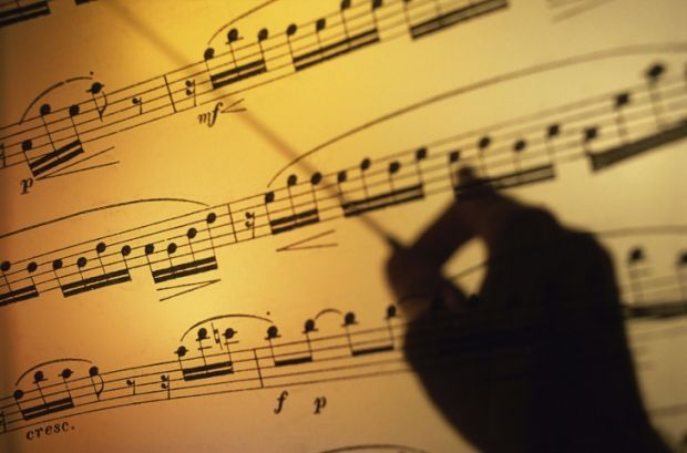 music sheet conductor stockimage concert orchestra