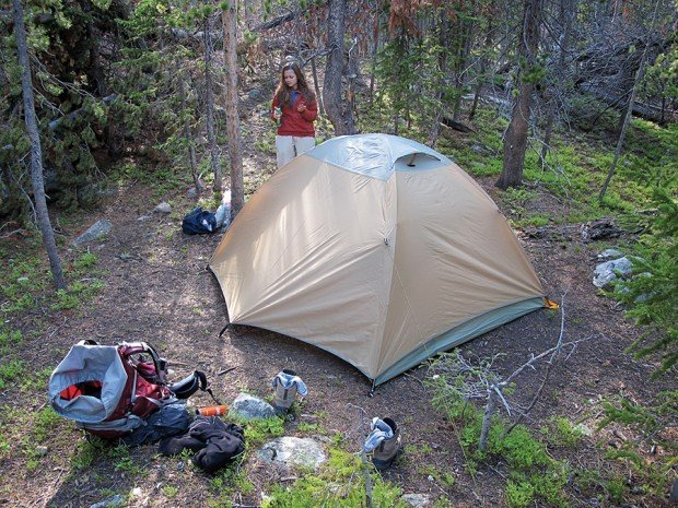 Cabelau0027s XPG Ultralight-3 tent & Ditch Mondo Condo for lighter tent on trail | Outdoors ...
